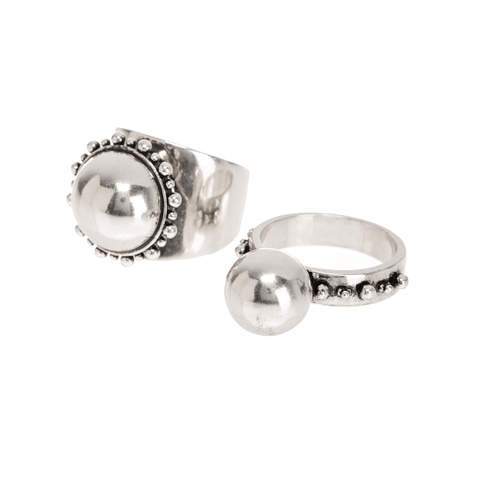Luv AJ Rococo Ring Set Silver - ro-and-jewel