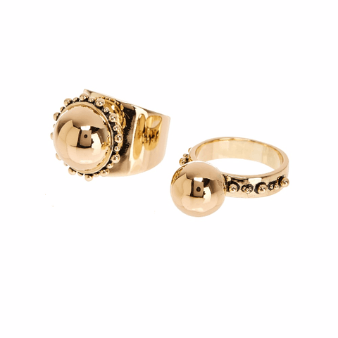 Luv AJ Rococo Ring Set Gold - ro-and-jewel