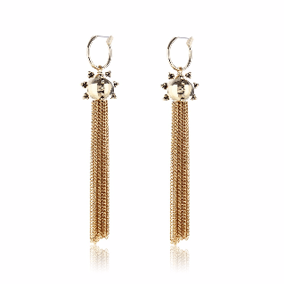 Luv AJ Baroque Tassel Gold Earrings - ro-and-jewel