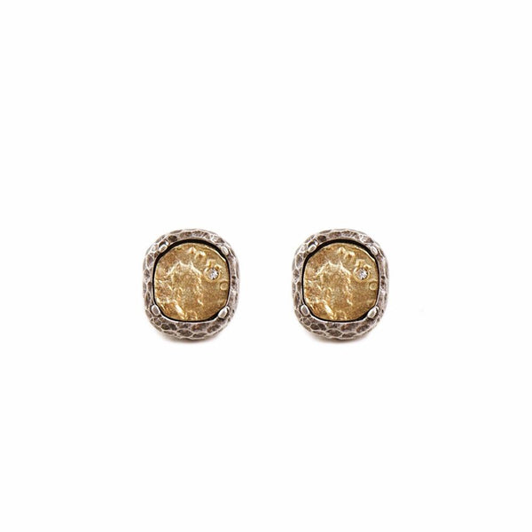 Tat2Designs Pavia Coin Gold Stud Earrings - Ro & Jewel