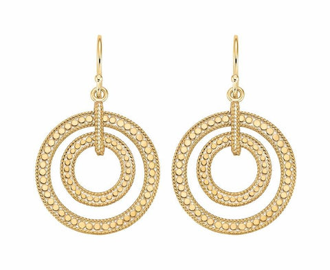 Anna Beck Gold Double Circle Earrings - ro-and-jewel