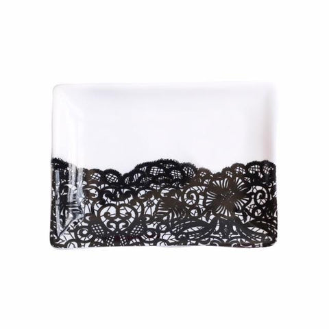 Sweet Water Decor Black Lace Jewelry Dish - ro-and-jewel