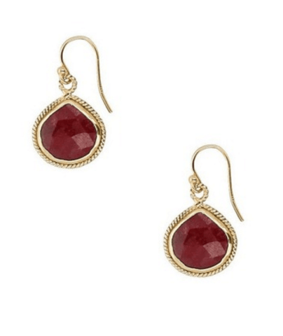Chan Luu Ruby Drop Earrings - Ro & Jewel