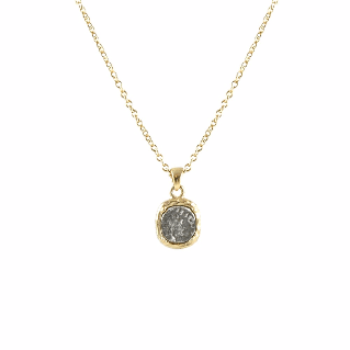 Tat2Designs Gold Pavia Coin & Frame Necklace - Ro & Jewel