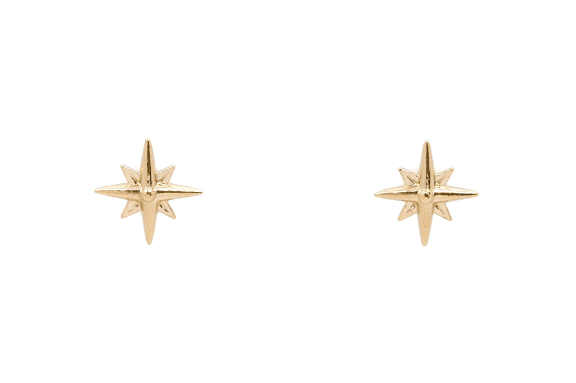 Moorea Seal Starlight Studs Gold Earrings - ro-and-jewel