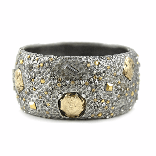 Tat2Designs Siena Vintage Silver Wide Marcasite Bangle - ro-and-jewel