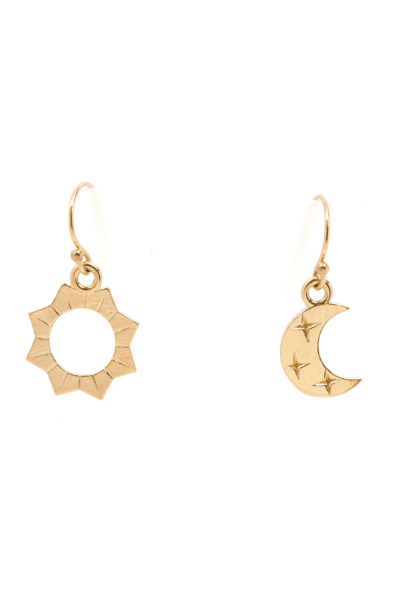 Moorea Seal Dawn and Dusk Gold Earrings - ro-and-jewel