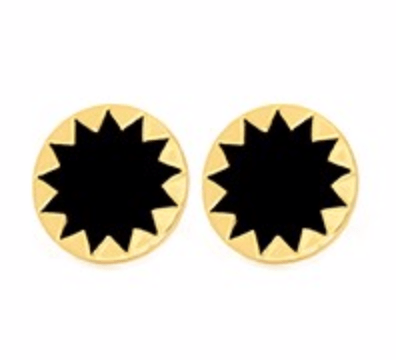 House of Harlow 1960 Sunburst Button Gold Earrings - ro-and-jewel
