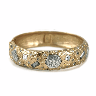 Tat2Designs Siena Gold Marcasite Bangle - ro-and-jewel
