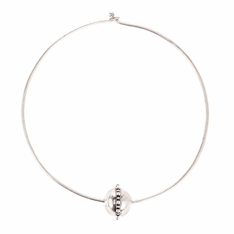Luv AJ Baroque Statement Choker Silver - ro-and-jewel