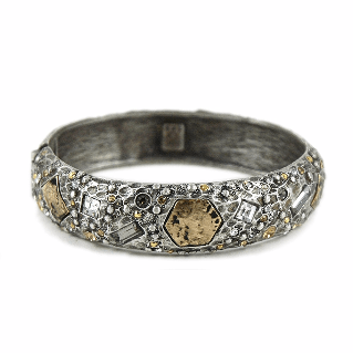 Tat2Designs Siena Vintage Silver Marcasite Bangle - ro-and-jewel