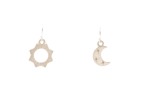 Moorea Seal Dawn and Dusk Silver Earrings - ro-and-jewel