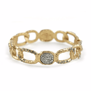Tat2Designs Siena Gold Coin & Link Bangle - ro-and-jewel