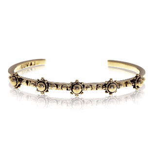 Luv AJ Baroque Bar Gold Bangle Bracelet - ro-and-jewel