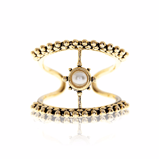 Luv AJ Versailles T-Bar Gold Ring - ro-and-jewel