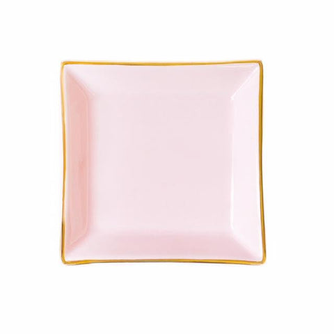 Sweet Water Decor Pink Square Jewelry Dish - ro-and-jewel