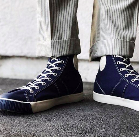 colchester rubber high top sneaker vintage navy blue