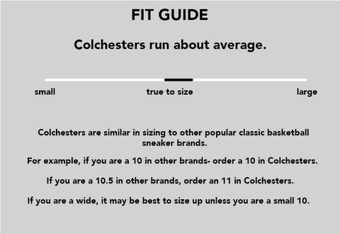 colchester rubber co sizing