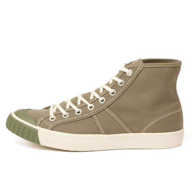 colchester rubber co sneakers hightop olive green