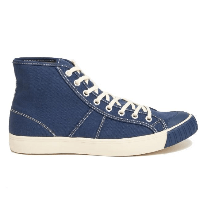 Colchester rubber co navy hightop sneaker shoe