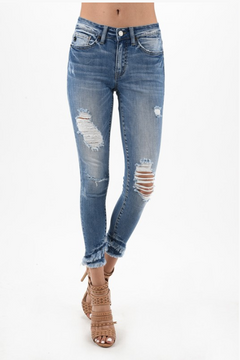 Double Fringed Kan Can Ankle Skinnies