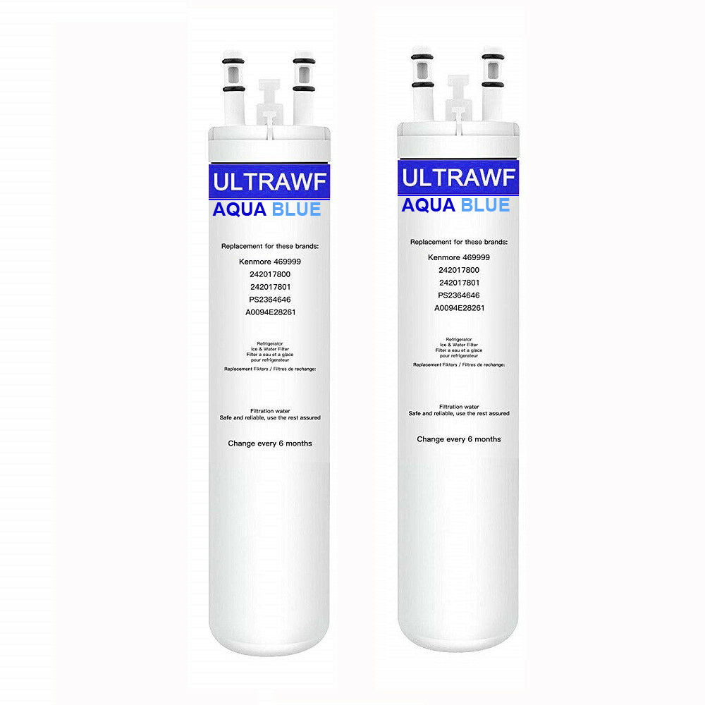 Aqua Blue water filter (2 pack) compatible with Frigidaire Ultra ULTRAWF PureSource 241791601 Water Filter