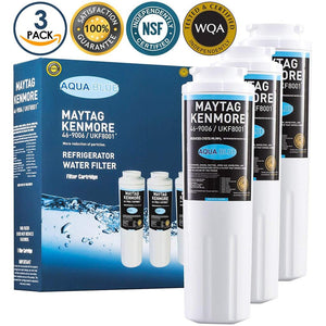 Aqua Blue water filter (3 pack) compatible with Maytag MSD2352KEB, MSD2355HEW, MSD2573VES03 Water Filter