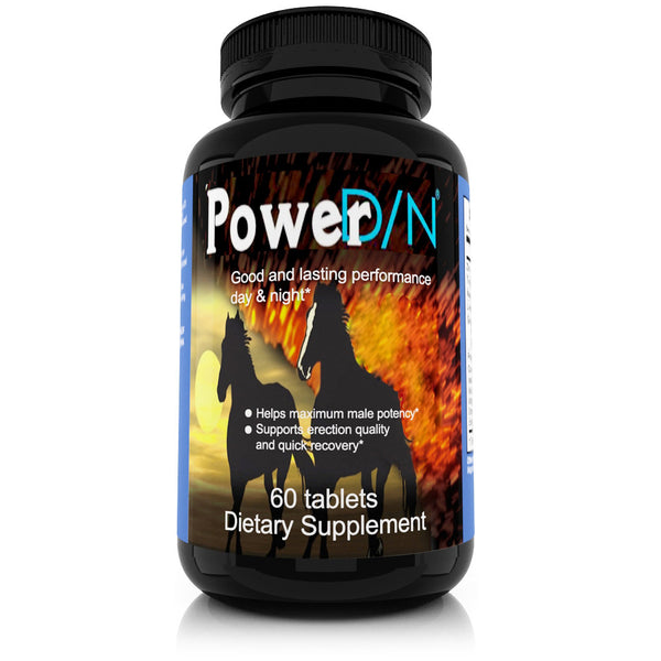 power dn front label