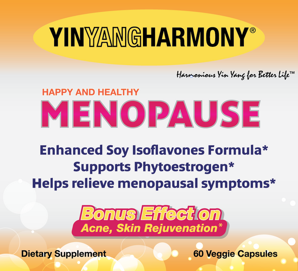 happy & healthy menopause front label