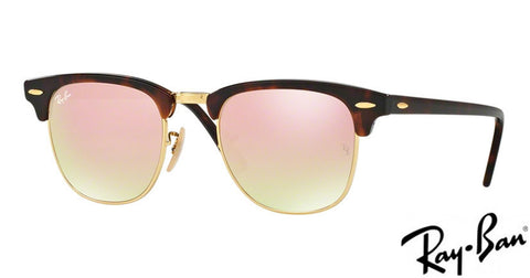 Ray-Ban CLUBMASTER - Copper flash lenses 0RB3016 990/7O