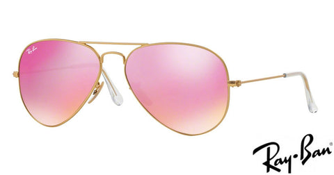 Ray-Ban AVIATOR LARGE METAL - LIMITED EDITION - Green mirror fuxia 0RB3025  112/4T