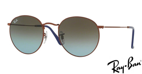 Ray-Ban ROUND METAL - Bronze / Copper frame, Blue / Brown lenses 0RB3447 900396