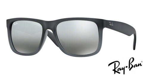 Ray-Ban JUSTIN - Grey silver mirror gradient 0RB4165 852/88