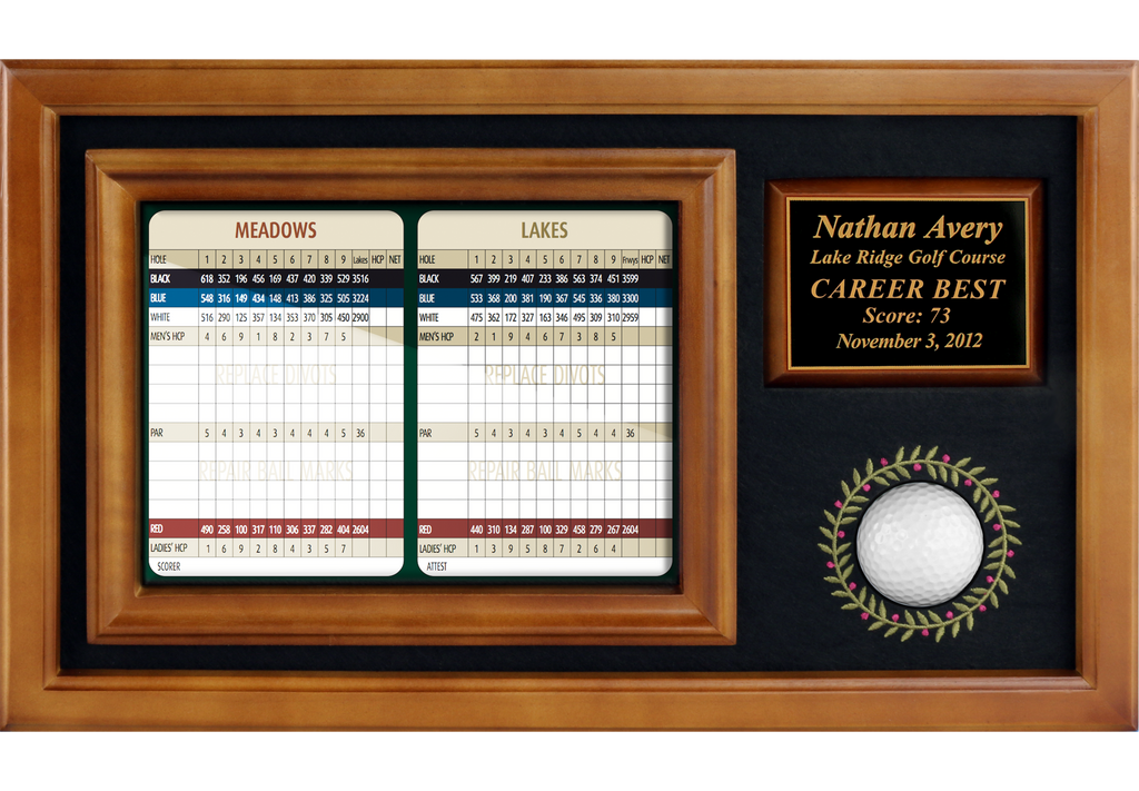 "Memorable Moments Ball & 6""x8"" Scorecard Display"