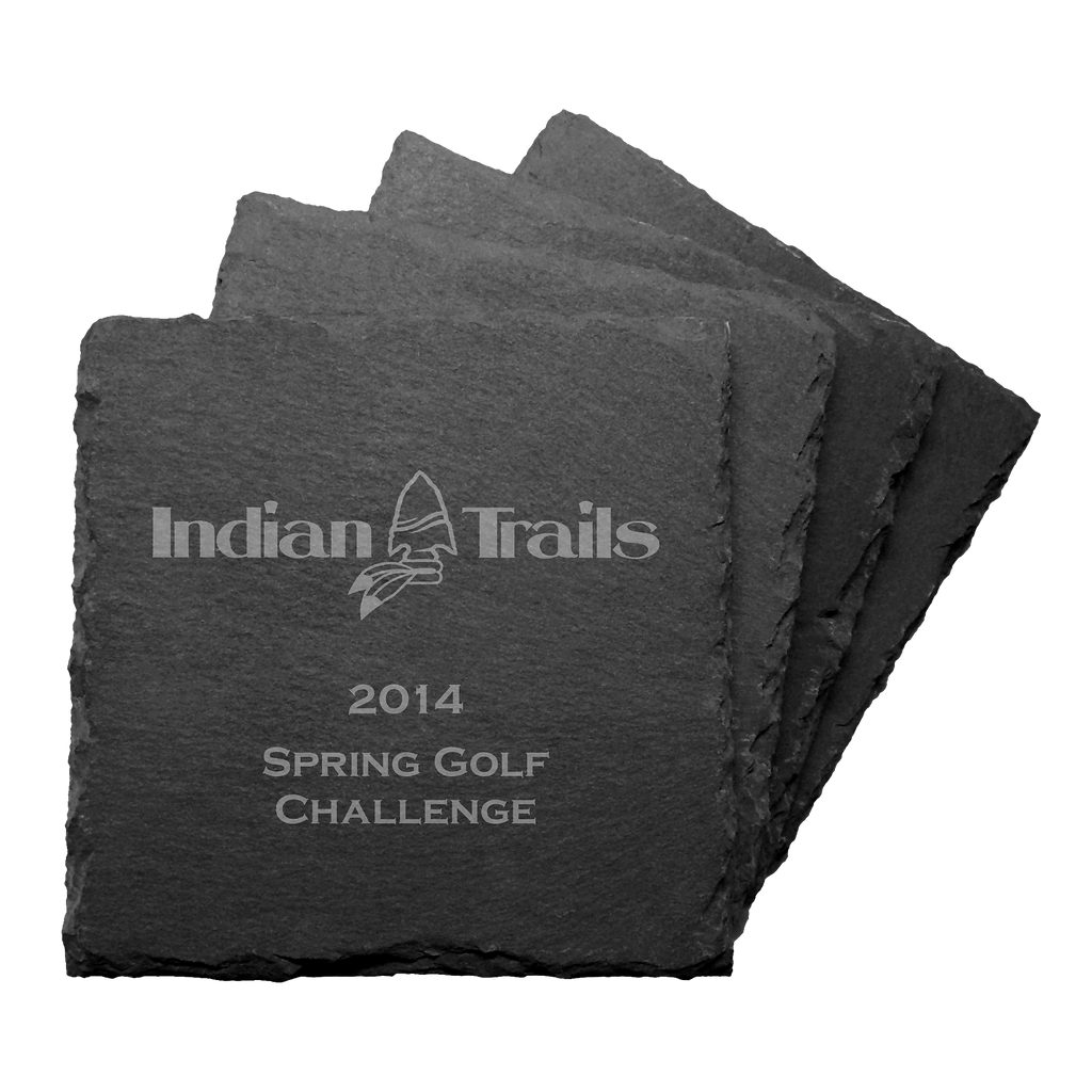 Set of 4 Slate Coasters - ProActive Sports Tournament Store