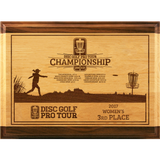 Red Alder & Walnut Plaque - ProActive Sports Tournament Store