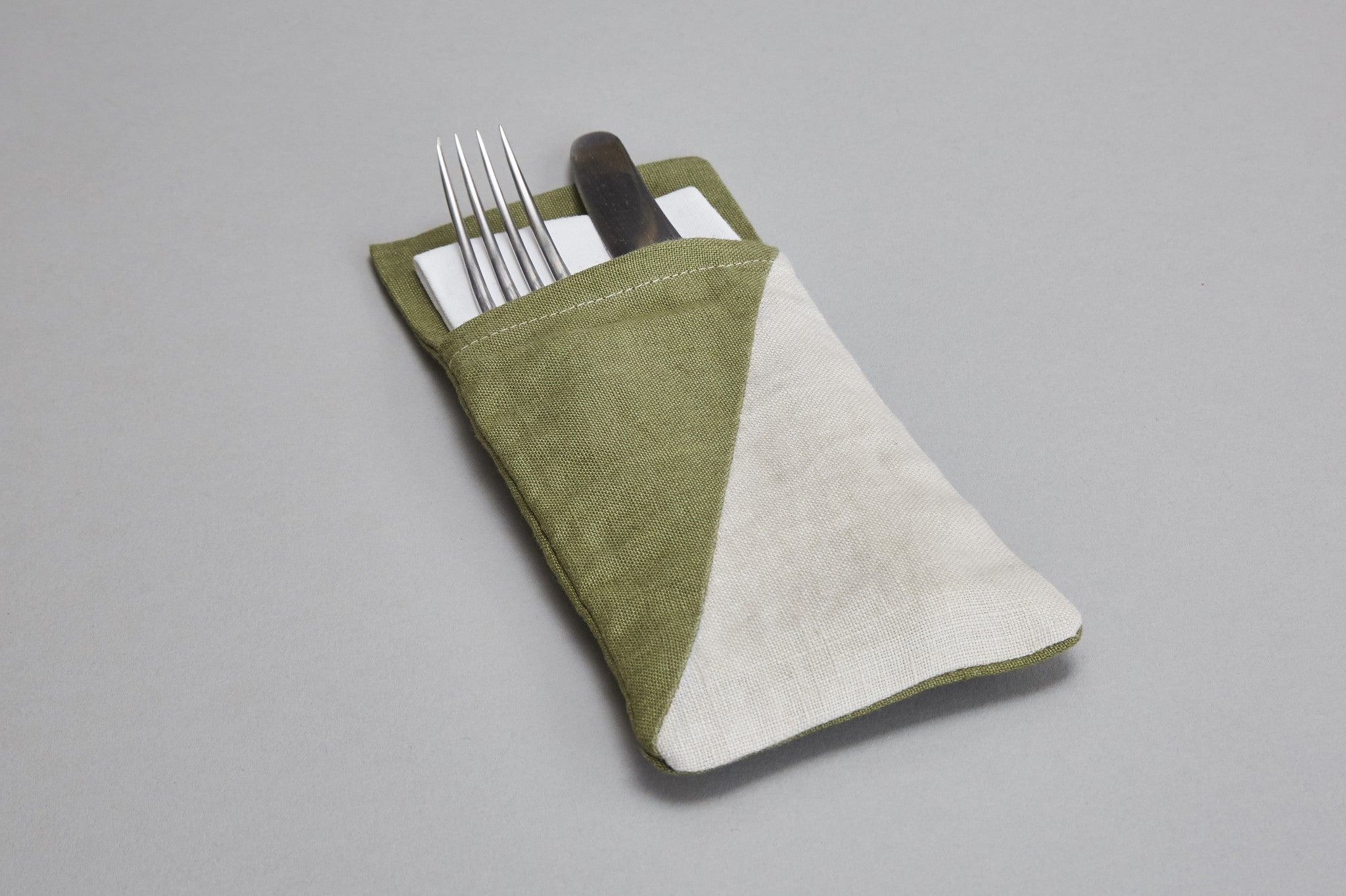 Cutlery Holder (green+oatmeal)