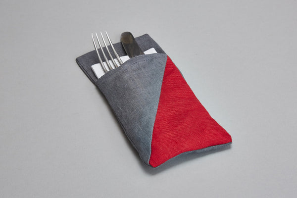 Cutlery Holder (red+grey)