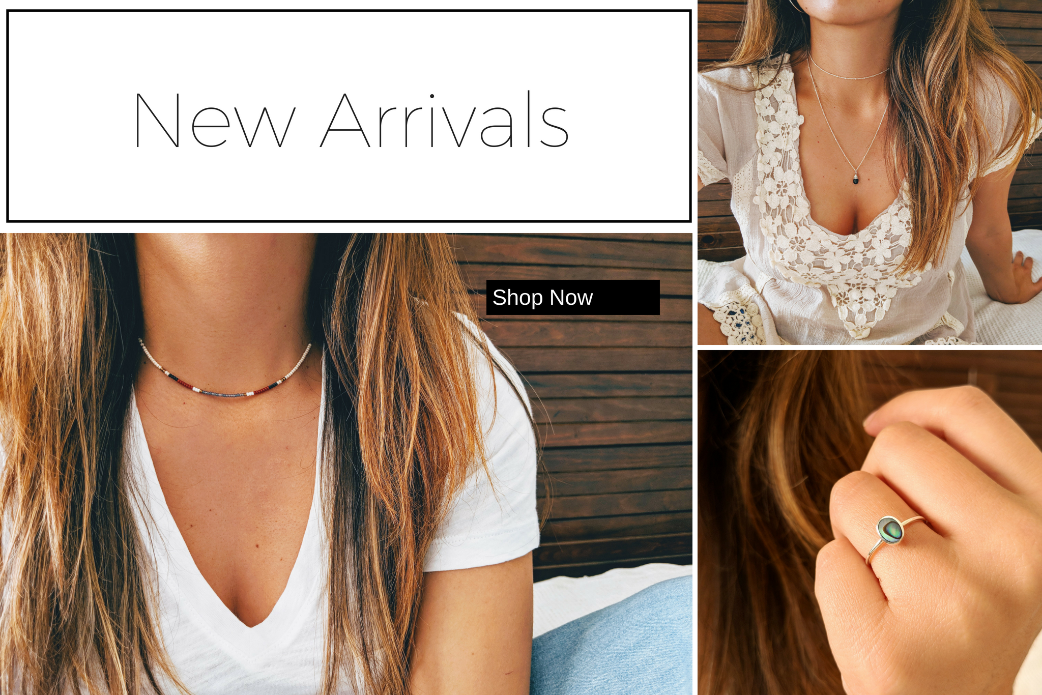 Moon & Milk - Homepage New Arrivals of necklaces, earrings, and rings