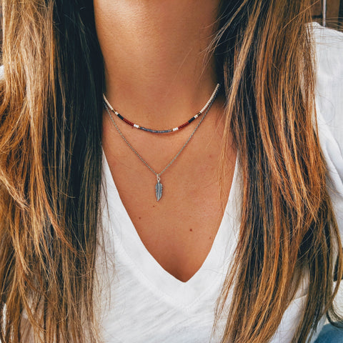 Amy Multicolor Beaded Choker
