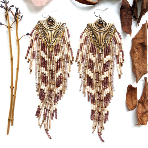 Queen Elizabeth Wine Bohemian Earrings