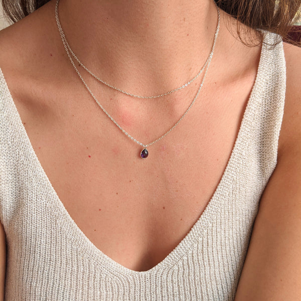 Charlotte Amethyst Layer Necklace