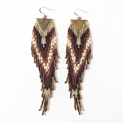 Ava Bronze Native Beaded Earrings