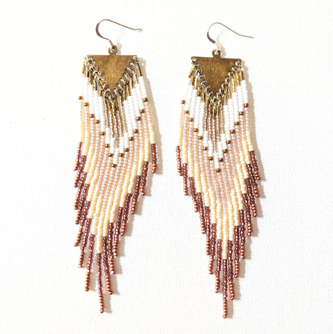Yūgen Blush Pink Bohemian Earrings