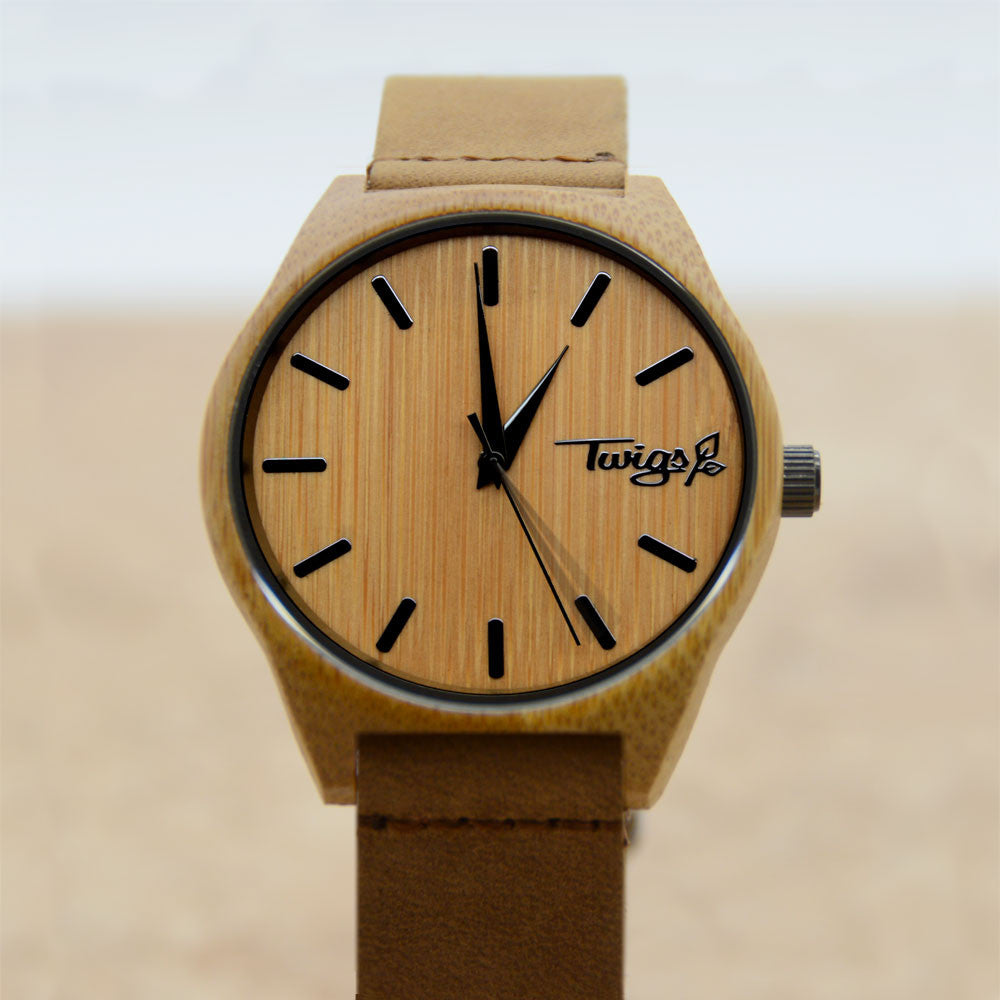 Medium Brown Bamboo Watch