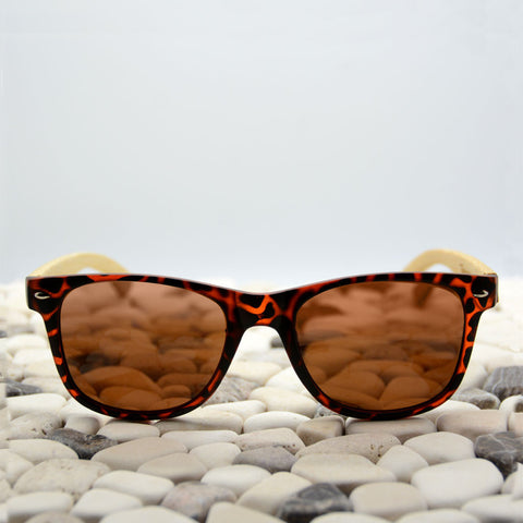 Tortoise wood sunglasses