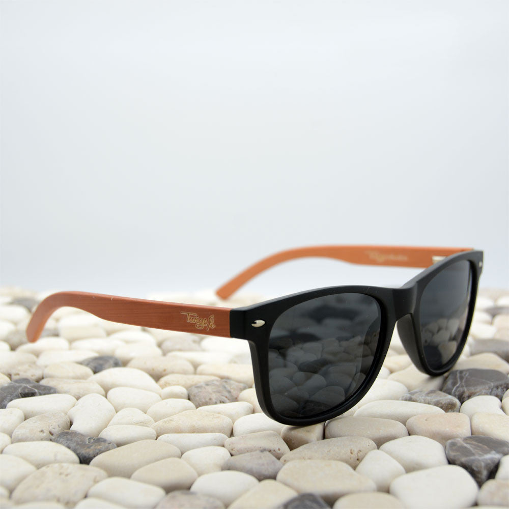 Plastic and wood sunglasses