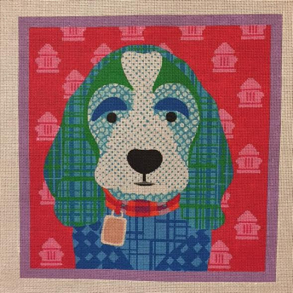 Blue Patchwork Dog