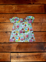 Indie Designer Dress / Toddler Top - With Cute Kawaii Treats fabric