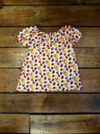 Indie Designer Dress / Toddler Top - With Retro Strawberries and Bananas